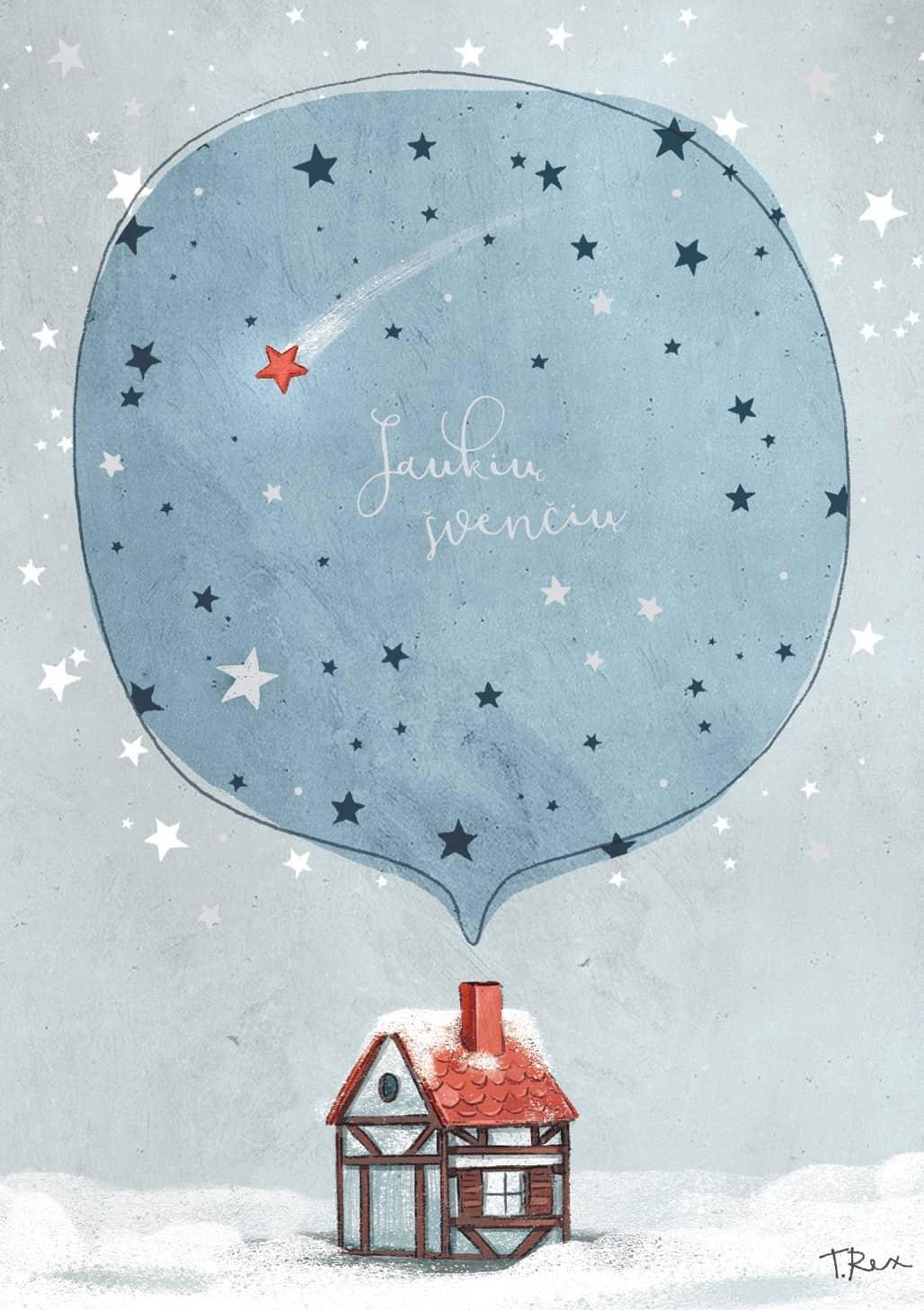 AM 307 Kalėdinis atvirukas