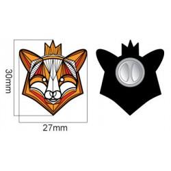 MZ16. Metalinis ženkliukas Gal liūtas ir žvėrių karalius, bet lapė – tikra miškų karalienė.