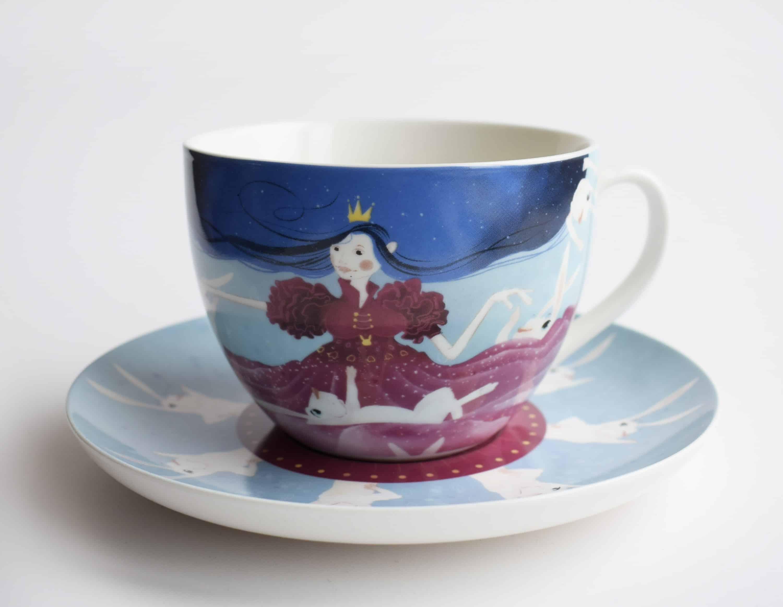 Kapučino kavos puodelis Zuikių princesė
