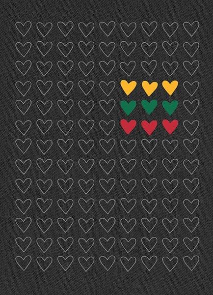 """B37. Bloknotas """"Trispalvės širdys"""""""