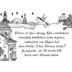 """Puodelis """"Vilnius ir Vilnele plaukiančios svajonės"""""""