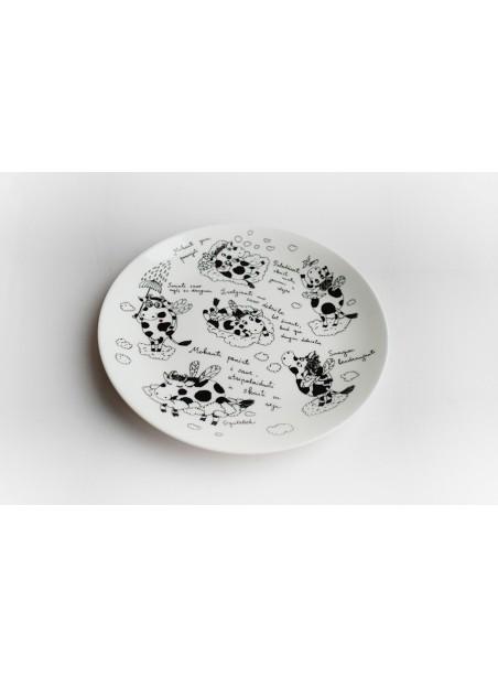 """Porcelianinė lėkštelė desertams """"Mažos sparnuotos karvytės"""""""