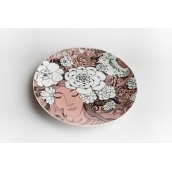 """Porcelianinė lėkštelė desertams """"Su baltu ramybės paukščiu..."""""""