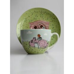 Kapučino kavos puodelis Drakoniukų arbatėlė