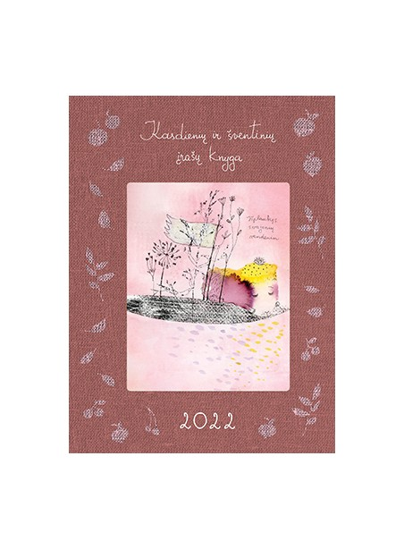 DK4 Kasdienių ir šventinių įrašų knyga 2022
