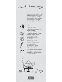 Skirtukas knygai su arbatos receptu