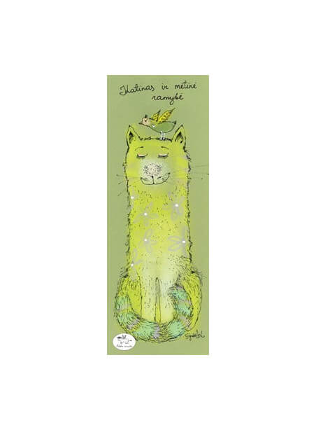 """Skirtukas knygai """"Katinas ir mėtinė ramybė"""""""
