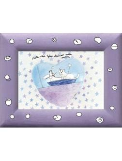 Meilė, pilna tylaus plaukimo maža valtele