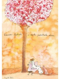 Rausvas katinėlis ir saulės pabučiuota diena