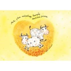 Meilė, pilna nerūpestingų karvyčių saulėtose pievose