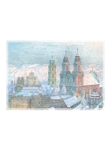 AM148/394 Kalėdinis atvirukas