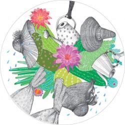 Puodelis su lėkštute Ponios su kaktusais