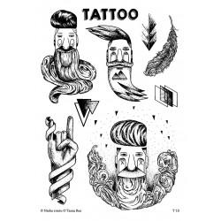 T10. Laikinos tatuiruotės su Tanios Rex piešiniais