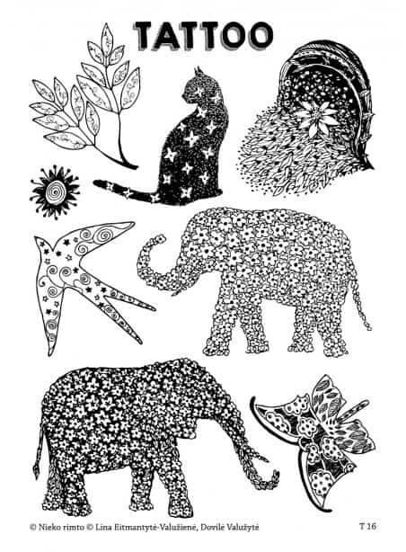T16. Laikinos tatuiruotės su Linos Eitmantytės-Valužienės piešiniais