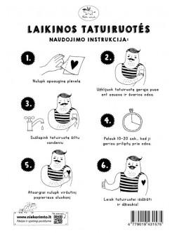 T17. Laikinos tatuiruotės su Miglės Dilytės piešiniais