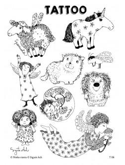 T6. Laikinos tatuiruotės su Sigutės Ach piešiniais