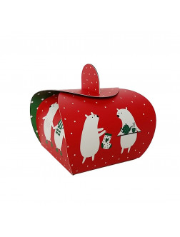 D06. Kalėdinė dovanų dėžutė