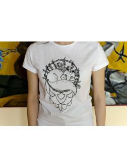 """Marškinėliai merginoms """"Lapė ir mandala"""" (S)"""