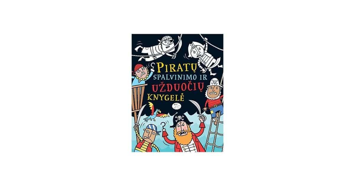 Piratų spalvinimo ir užduočių knygelė