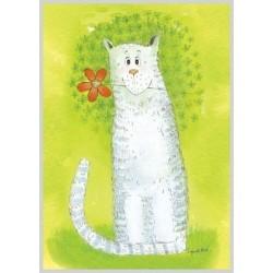 AMV54/134 Katinėlis su gėlyte!