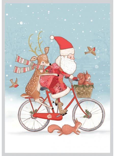 AMV210 Kalėdų senelis ant dviračio