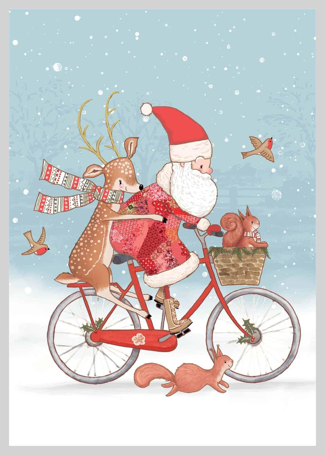 AMV 210 Kalėdų senelis ant dviračio