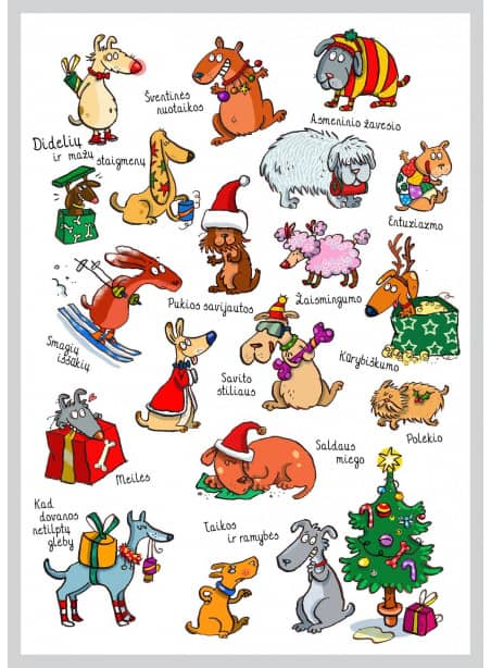 AMV217 Kalėdiniai šuniukai