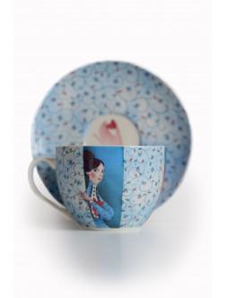 Kapučino kavos puodelis Koketuojantys ponai