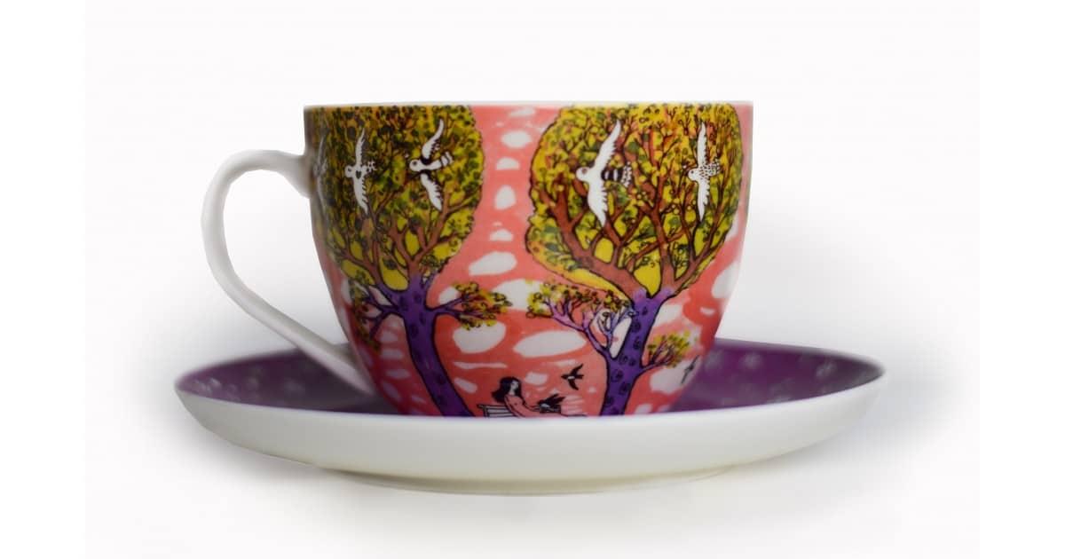 Kapučino kavos puodelis Parkas