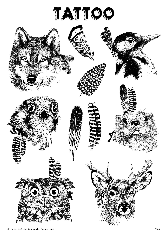 T25. Laikinos tatuiruotės su Raimondos Murauskaitės piešiniais