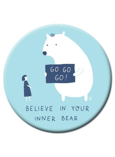 VD25 Veidrodėlis Believe in your inner bear