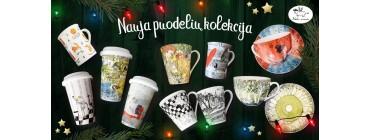 NAUJA porcelianinių puodelių kolekcija!